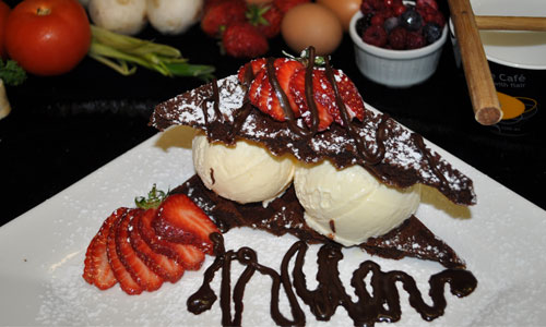 Chocolate waffles available also