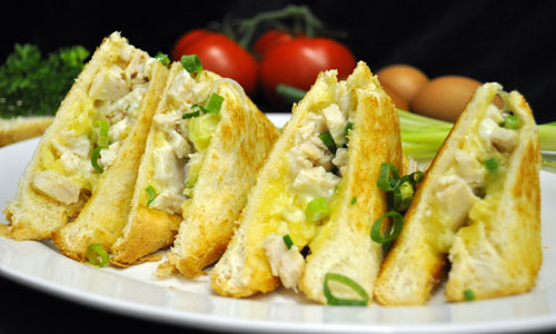 Chicken, Cheese, Mayo, and Spring Onion
